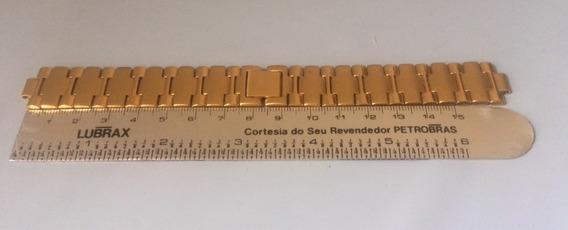 Pulseira Aço Dourada Relógio Bulova Usada Sem Terminal