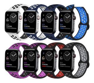 Pulseira Silicone Furo Watch Serie 5 44mm Iwo9 Iwo10 Iwo11