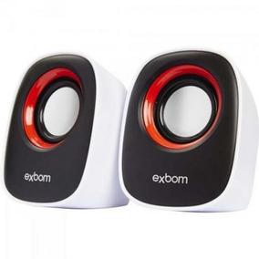 Mini Alto-falante Usb 5w Rms Cs-89 Vermelho/preto/branco