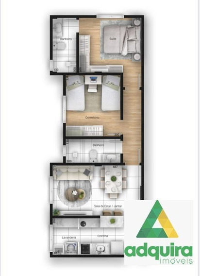 Apartamento Padrão Com 2 Quartos No Champagnat - 5374-v