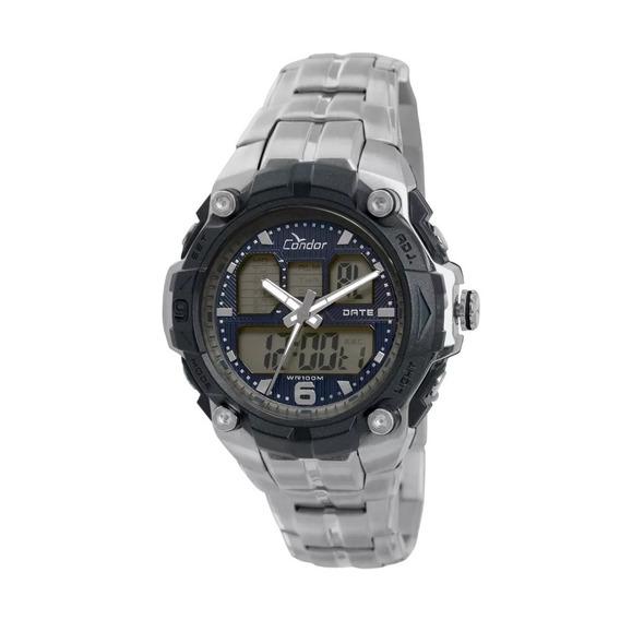 Relógio Condor Masc Coad0912/3p Prateado Original Lançamento