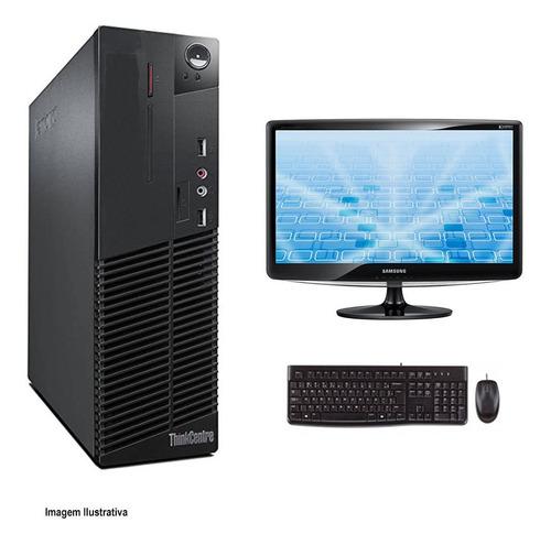 Imagem 1 de 10 de Kit Cpu Lenovo M72e I3 2° 8gb Ssd 240gb Wifi + Monitor 17
