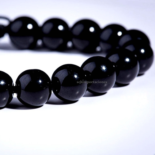 Nueva Pulsera Obsidiana Negra - Ajustable  Premium Original.