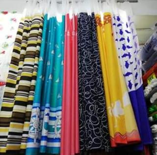 12 Cortinas De Baño RepelentesMedida 1.80x1.80 Colores Surt