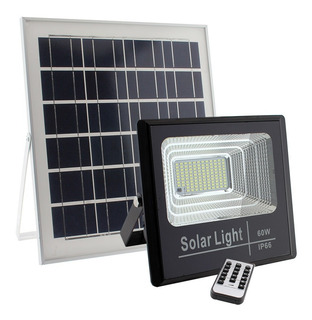 Proyector Led Con Panel Solar Control Remoto 100w