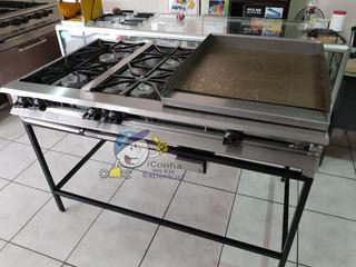 Cocinas De Gas 4 Quemadores Y Plancha