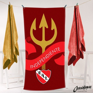 Toallon Independiente Algodon Premium Oficial Toalla Pileta