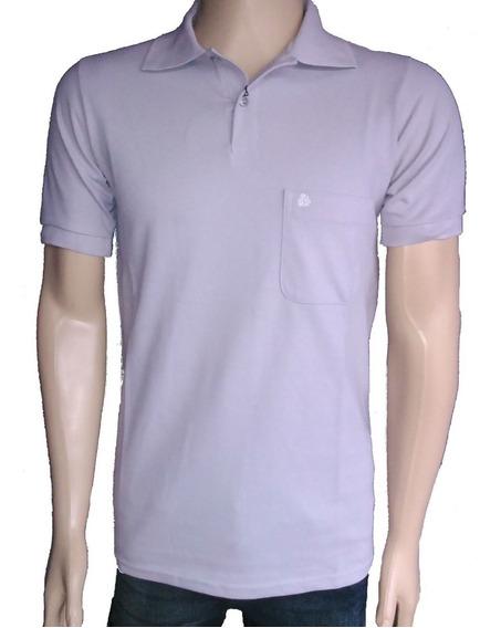 Camiseta Gola Polo Masculina Lisa 100% Algodão P, M, G E Gg