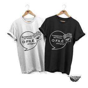 Kit 2 Camisas Filé Chegou Blusa Regata Feminina E Masculina