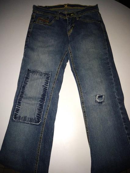 Jeans Para Dama - Talla 3/4 - Strech - Marca Mara