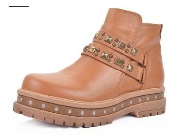Botas Borcegos Mujer Cuero Riot Art 171 Zona Zapatos