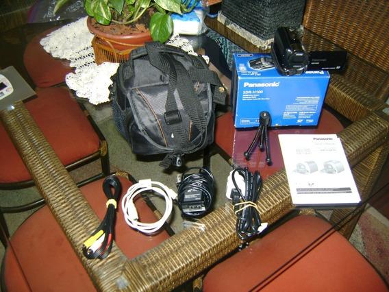Filmadora Panasonic Sdr-h100 Hdd 80gb Built In Usada 2 Vezes