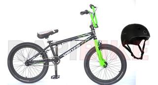 Bicicleta Venzo Cube Bmx Freestyle Rodado 20 Niños + Casco