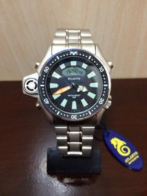 Relogio Atlantis G3220 Serie Prata Aço =citzen Aqualand