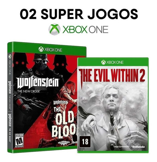 Wolfenstein Two Pack + The Evil Within 2 - Xbox One - Novos