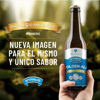 Cerveza Sin Gluten Straus Golden Ale - Rubia Caja X 6 Bot.