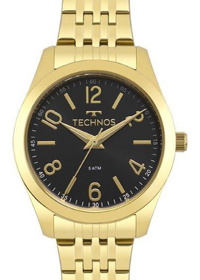 Relógio Technos Feminino Analógico Dourado Original + Nf