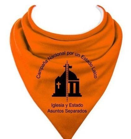 Pañuelo Naranja Estado Laico X 10 Unidades Mercado Libre