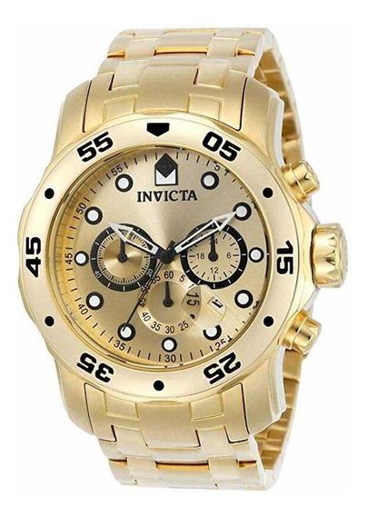 Relógio Masculino Invicta Prodiver Original Dourado Ouro