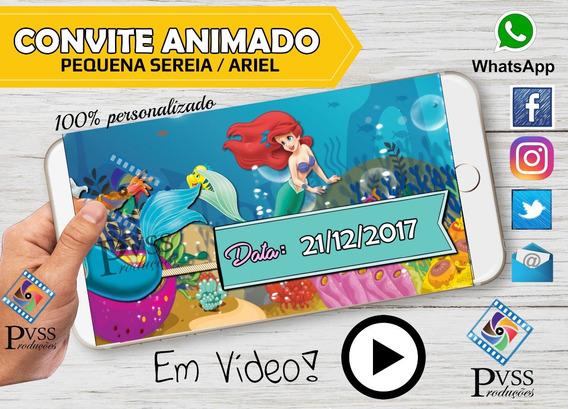 Video Convite Animado Pequena Sereia