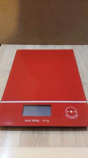 Balanza Digital Electrónica De Cocina 3kg Roja
