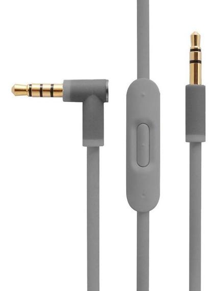 Cabo Fone Beats Cinza Gray - Controle E Microfone - P2 X P2