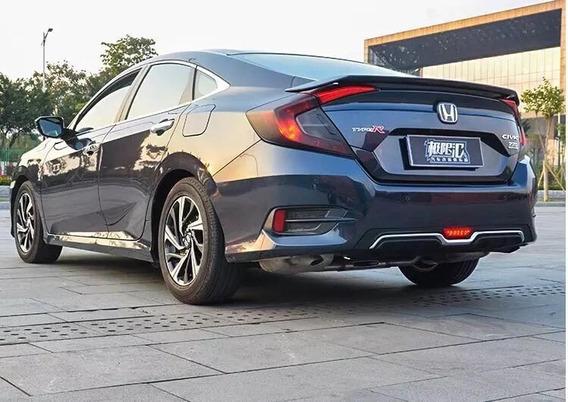 Difusor Traseiro Civic 2017 - 2019 G10 Estilo Carbono