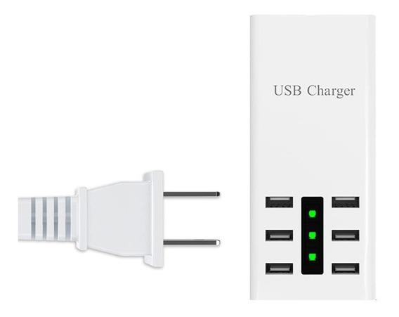 6 Usb Smart Charge Travel Ac Adaptador Tomada Para Telemóvel
