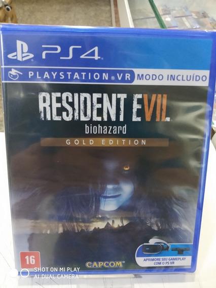 Jogo Resident Evil 7 Gold Edition- Ps4/vr Mídia Física Novo