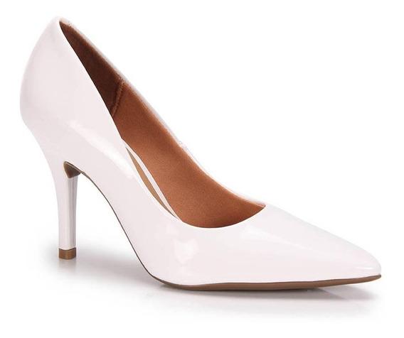 Sapato Vizzano Scarpin Bico Fino Verniz Preto