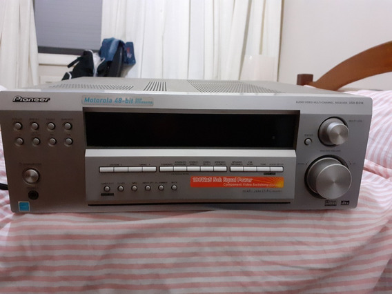 Receiver Home Theater Pionner Modelo Vsx D 514s, 500w, 5x100