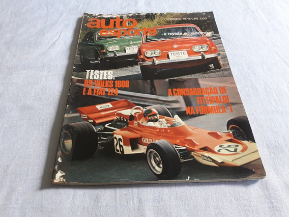 Revista Auto Esporte 73 Nov/70 1ª Vitoria De Emerson Na F1