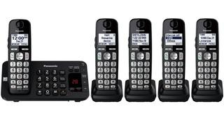 Telefono Inal Panasonic 5 Auriculares Negro Respaldo Apagon