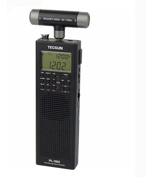 Tecsun Pl-360 Digital Receptor Preto ((pronta Entrega ))