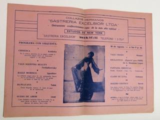 1935 Cali Teatro Municipal Programa Kyra #1 Programa Antiguo