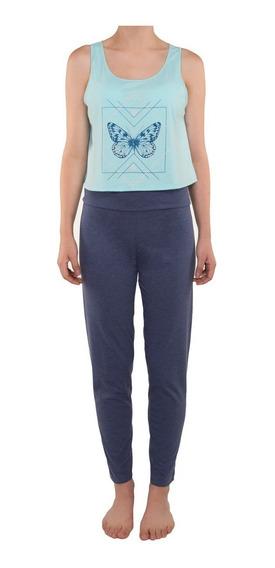Pijama Tops Bottoms Dama Juvenil Pantalon De Yoga
