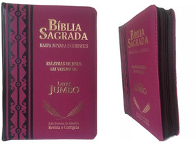 Bíblia Jumbo Letra Extra Gigante Com Harpa Corrigida Ziper