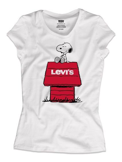 Playera Levi´s Snoopy Para Mujer