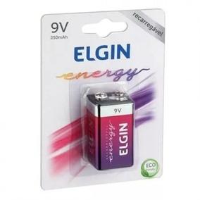 Bateria Elgin 9v 250mah Recarregavel Oferta! Frete Grátis!!!