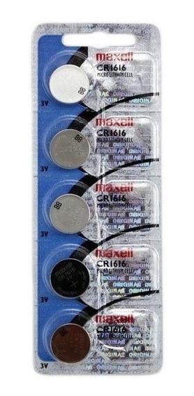 Cartela C/ 5 Bateria Botão Lithium Maxell Original Cr1616 3v