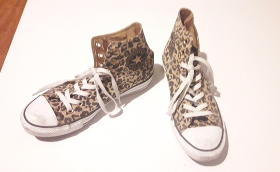 Zapatillas Botitas Animal Print Converse Originales Talle 30