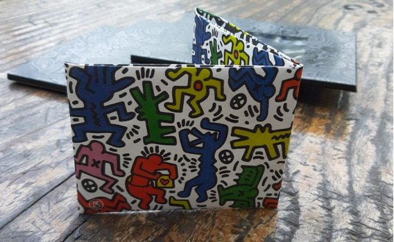 Billetera Tyvek Super Resistente Eco Wallet Mod Keith Haring