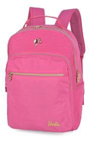Mochila De Costas Barbie Luxcel Mj48456bb Rosa