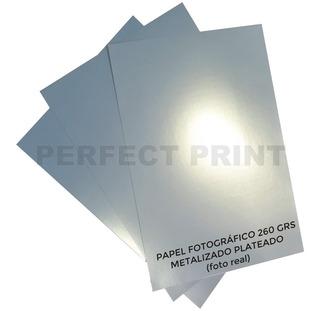 Papel Fotográfico Metalizado A4 Plateado 260 Grs 20 Hojas