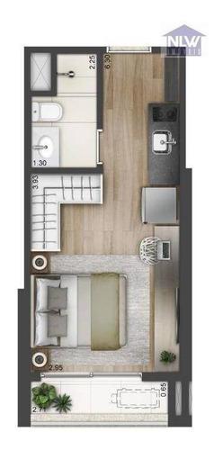 Studio Com 1 Dormitório À Venda, 22 M² Por R$ 357.960,00 - Brooklin - São Paulo/sp - St0104