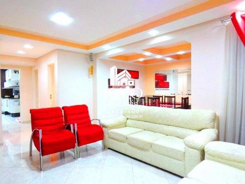 Imagem 1 de 9 de Apartamento Mobiliado 130m² 3 Suites 4 Vagas Prox Brotero