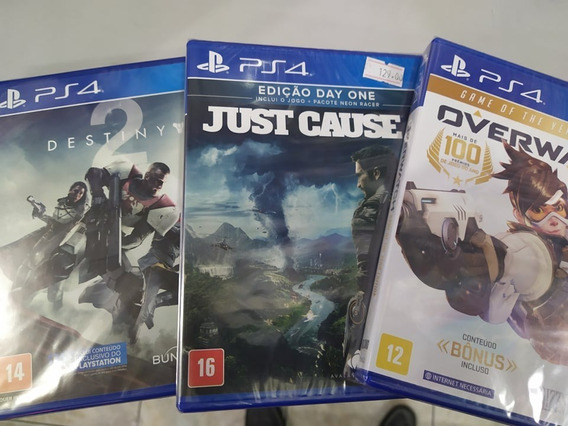 Just Cause Ps4 + Destiny 2 Ps4 + Overwatch Ps4