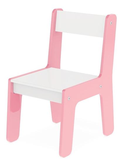 Cadeira Cadeirinha Infantil Rosa Mdf P/ Mesinha Junges 980