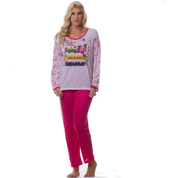 Kit 100 Pijamas De Inverno No Atacado P/ Revenda Malha Pv