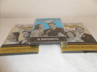 Lote De 3 Películas Dvd Pedro Infante 50 Aniversario 2 Cd´s